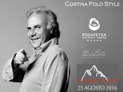 Jerry Calà a Cortina per il Summer Event del Rosapetra
