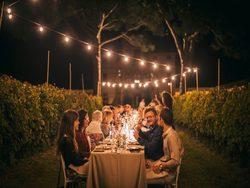 Cena tra i filari delle vigne di Villa Angarano a Bassano del Grappa il 5-6-7 settembre 2019