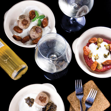 Square Wine Beer and seasonal Burger
