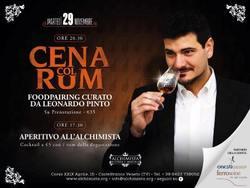 Cena col rum con Leonardo Pinto