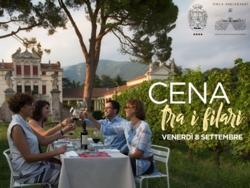 Cena tra i filari di Villa Angarano a Bassano del Grappa