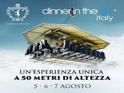 dinner in the sky 5,6,7 agosto